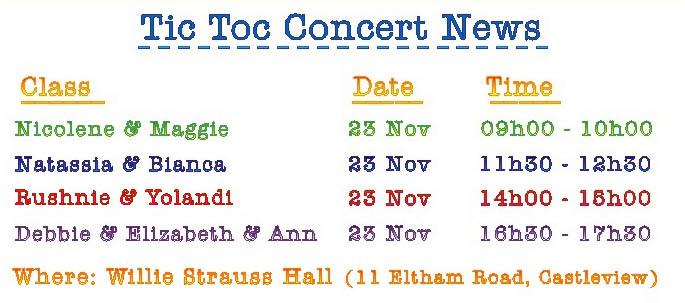Concert dates